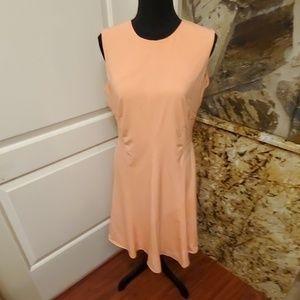EUC Calvin Klein Solid A Line Midi Dress